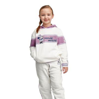 Felpa con cappuccio bimbi e baby Minni viola e bianco Disney Store