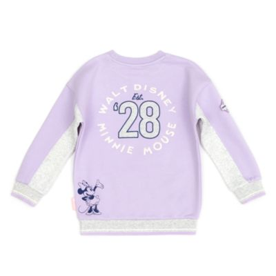 Disney Store Sweat Minnie blanc et violet pour bébés et enfants