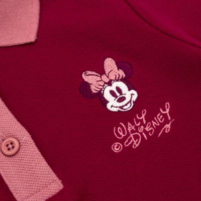 Disney Store Polo à manches longues Minnie bordeaux pour bébés et enfants