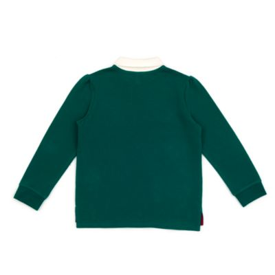 Disney Store Minnie Mouse Long Sleeve Green Polo Shirt For Toddlers & Kids