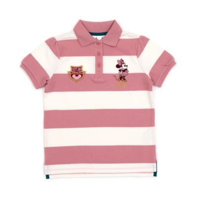Disney Store Minnie Mouse Striped Polo Shirt For Toddlers & Kids