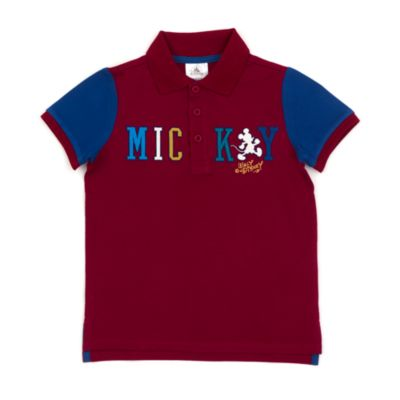 Disney Store Mickey Mouse Burgundy Polo Shirt For Toddlers & Kids