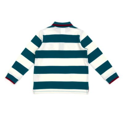 Disney Store Mickey Mouse Long Sleeve Striped Polo Shirt For Toddlers & Kids