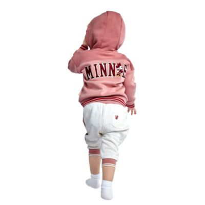 Disney Store Minnie Mouse Pink Hooded Sweatshirt For Toddlers & Kids