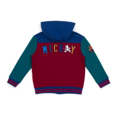 Disney Store Mickey Mouse Burgundy Hooded Sweatshirt For Toddlers & Kids