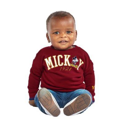 Disney Store Sweat Mickey bordeaux pour bébés et enfants