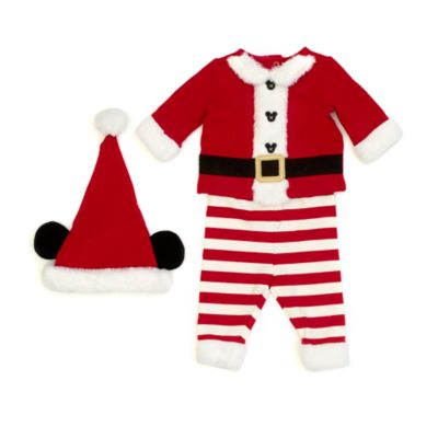 Disney Store Mickey Mouse Santa Claus Baby Outfit