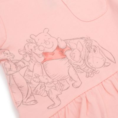 Disney Store Ensemble haut à manches courtes et bas Winnie l'Ourson et ses Amis pour bébés