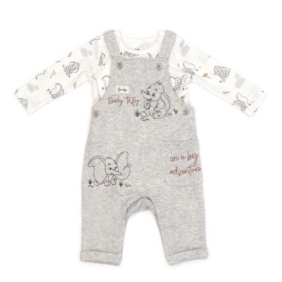Disney Store Dumbo Baby Dungaree and Body Suit Set