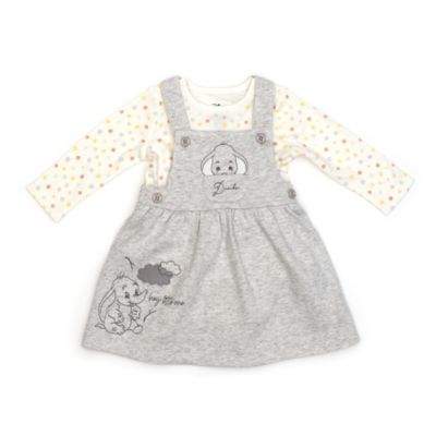 Disney Store Dumbo Baby Pinafore and Body Suit Set