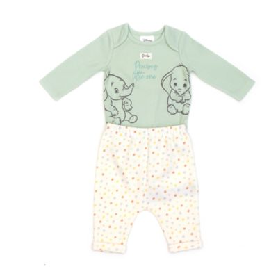 Disney Store Dumbo Baby Body Suit and Bottoms Set