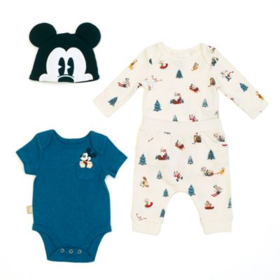 Disney Store Mickey Mouse Baby Body Suit Set
