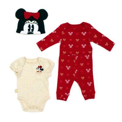 Disney Store Minnie Mouse Baby Body Suit Set