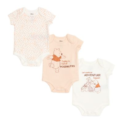 Disney Store Winnie the Pooh and Friends Baby Body Suits, Set of 3