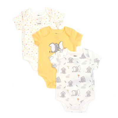 Disney Store Dumbo Baby Body Suits, Set of 3