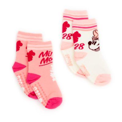 Disney Store Lot de 2paires de chaussettes Minnie pour bébés