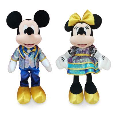 Walt Disney World Duo de peluches moyennes Mickey et Minnie 50eanniversaire