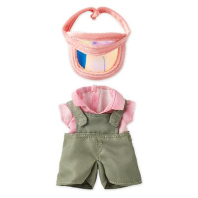 Disney Store Salopette olive avec casquette à visière rose pour petite peluche Disney nuiMOs