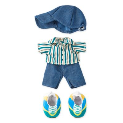 Disney Store nuiMOs Small Soft Toy Striped Shirt with Cap and Sneakers