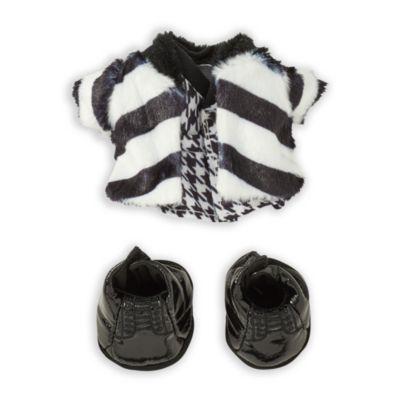Chaqueta mullida, vestido y botas negras, peluche pequeño nuiMOs, Disney Store