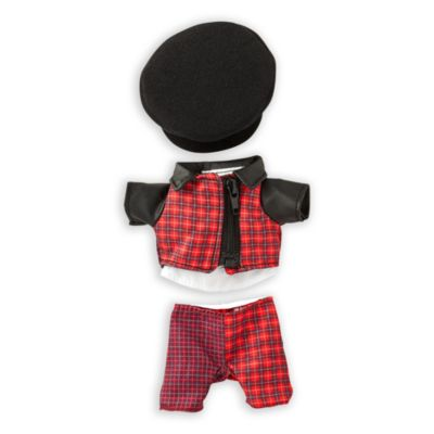 Disney Store nuiMOs Small Soft Toy Plaid Suit with Black Hat