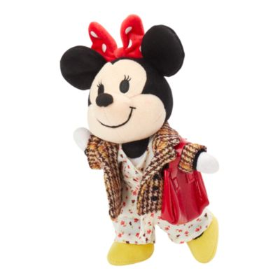 Disney Store nuiMOs Small Soft Toy Floral Jumpsuit and Paid Blazer with Red Purse