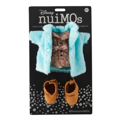 Disney Store - nuiMOs - Set aus Kleid mit Druck, blauem Flauschmantel und Stiefeln