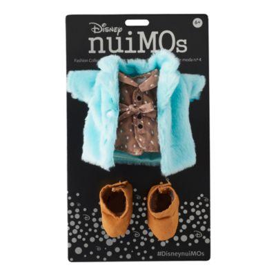 Disney Store Manteau moumoute bleu avec robe à imprimé et bottes assorties pour petites peluches Disney nuiMOs