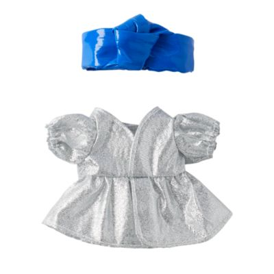 Disney Store Robe argentée avec bandeau bleu pour petites peluches Disney nuiMOs