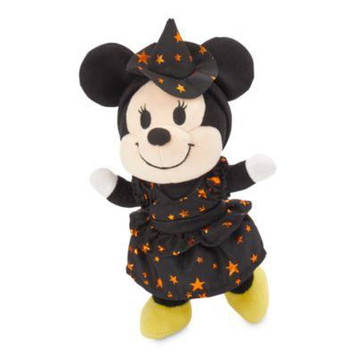 Disney Store nuiMOs Small Soft Toy Black and Orange Dress with Witch Hat Headband