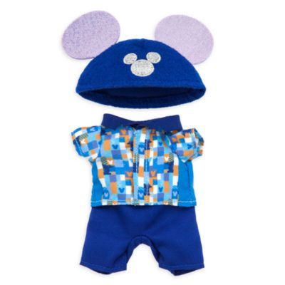Disney Store nuiMOs Small Soft Toy Celebration Print Shirt With Trousers and Hat