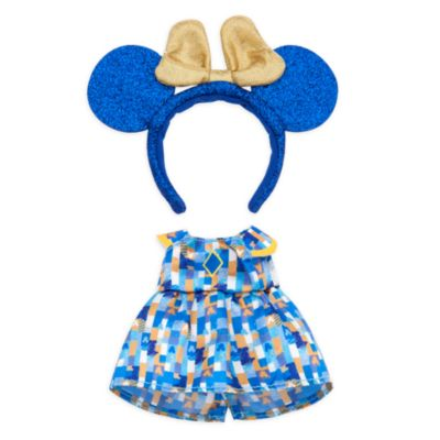 Disney Store Robe et serre-tête de fête pour petites peluches Disney nuiMOs