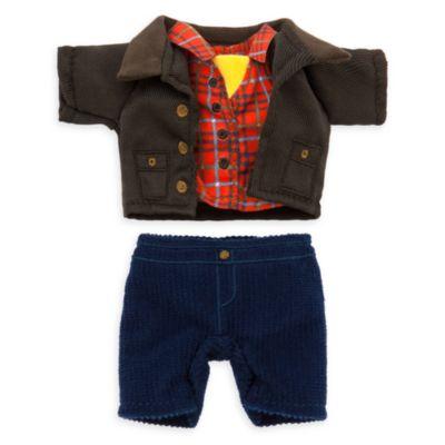 Camisa a cuadros, pantalón de pana y chaqueta para celebración, peluche pequeño nuiMOs, Disney Store