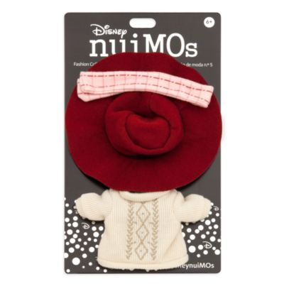 Disney Store nuiMOs Small Soft Toy Sweater Dress With Plaid Scarf and Hat