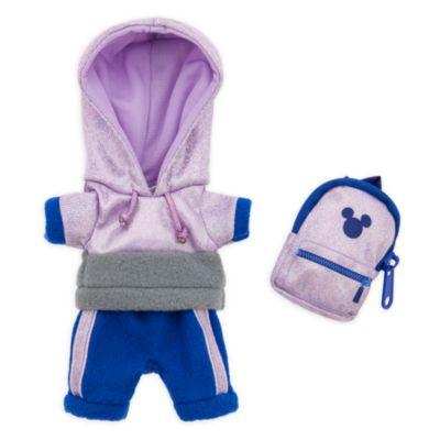 Disney Store Ensemble sweatshirt à capuche, pantalon de survêtement et sac à dos pour petites peluches Disney nuiMOs