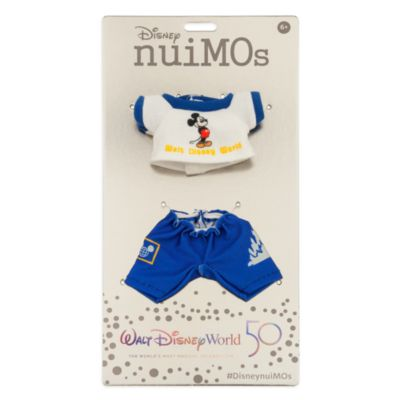 Disney Store nuiMOs Small Soft Toy Vault Blue and White Top and Trousers