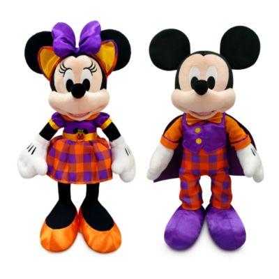 Disney Store Duo de petites peluches Mickey et Minnie Halloween