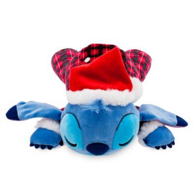 Disney Store Stitch Festive Cuddleez Medium Soft Toy, Lilo and Stitch