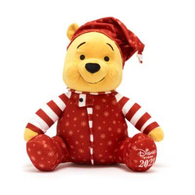 Disney Store Peluche moyenne Winnie l'Ourson Holiday Cheer