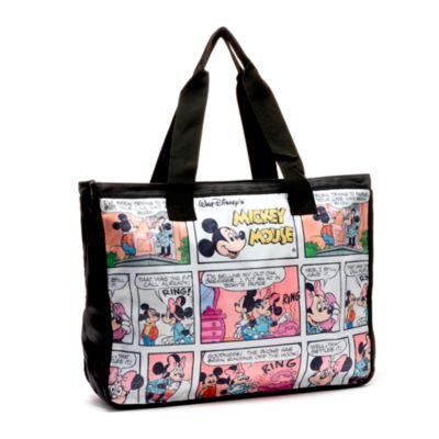 Disney Store Mickey and Minnie Cartoon Tote Bag