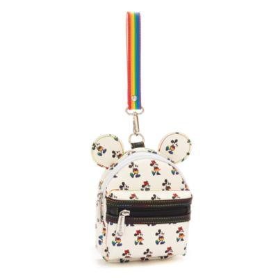 Loungefly Mickey and Minnie Rainbow Disney Wristlet