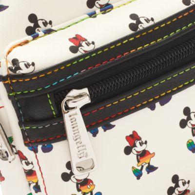 Bolso mano arcoíris Mickey y Minnie, Loungefly