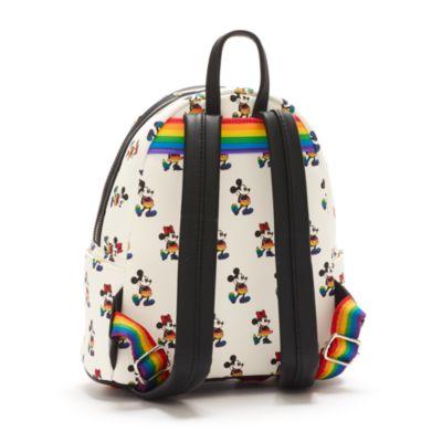 Mini zaino Topolino e Minni arcobaleno Loungefly
