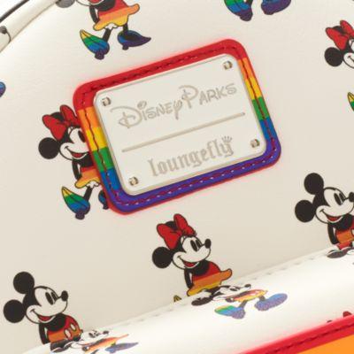 Loungefly Mini sac à dos arc-en-ciel Mickey et Minnie