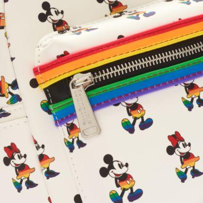 Minimochila arcoíris Mickey y Minnie, Loungefly