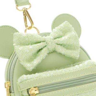 Bolso mano lentejuelas menta Minnie Mouse, Loungefly