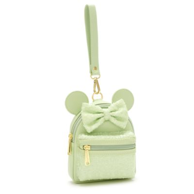 Loungefly Minnie Mouse Mint Sequin Wristlet