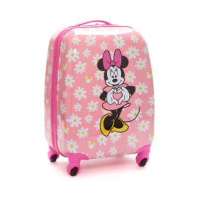 Disney Store Minnie Mouse Pink Rolling Luggage