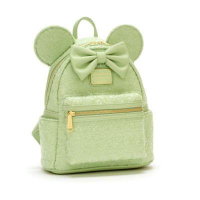 Loungefly - Minnie Maus - Paillettenbesetzter Mini-Rucksack in Mint