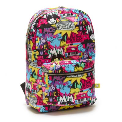 Disney Store Mickey Mouse Disney Artist Series Colourful Backpack
